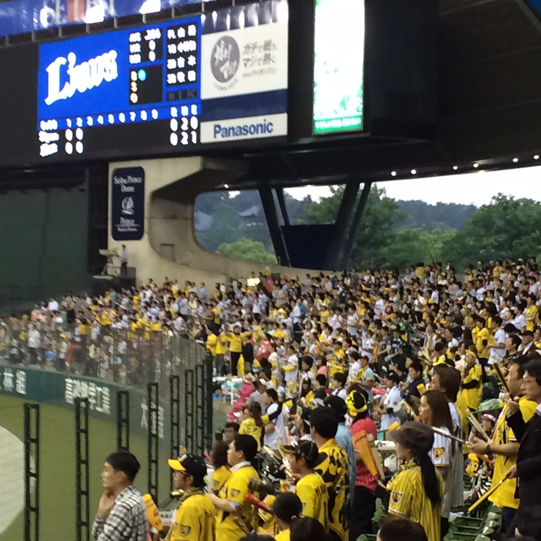 昨日は西武ドームに阪神戦を観に