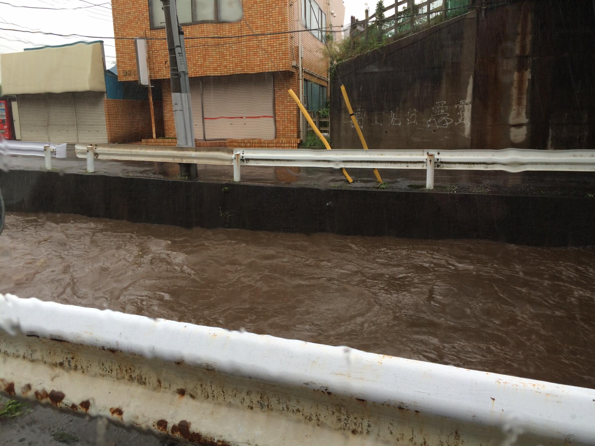 地元の川が氾濫寸前!