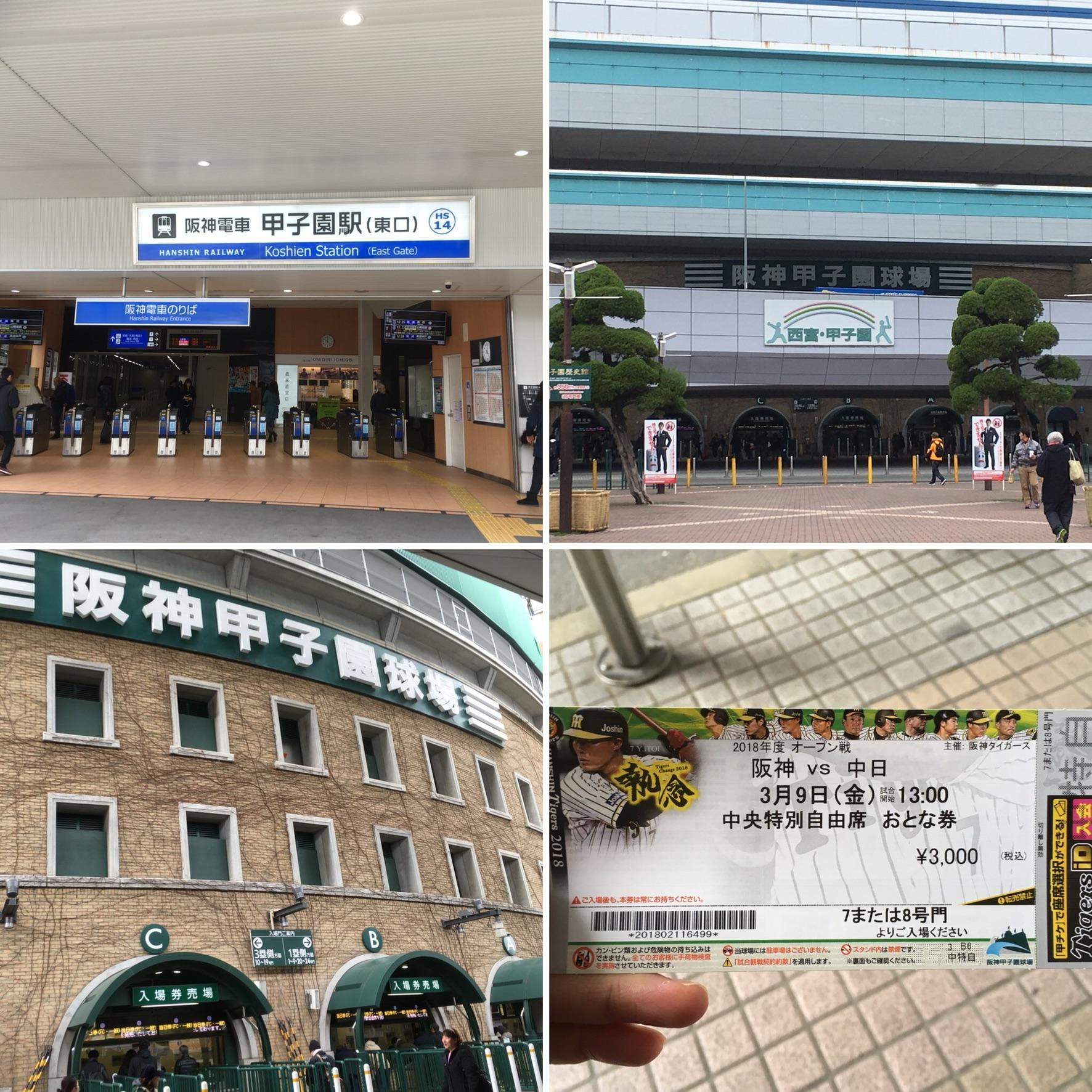 人生初の甲子園球場!!